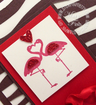Stampin up valentine defined flamingos