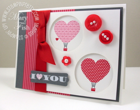 Stampin up love impressions rubons valentine card