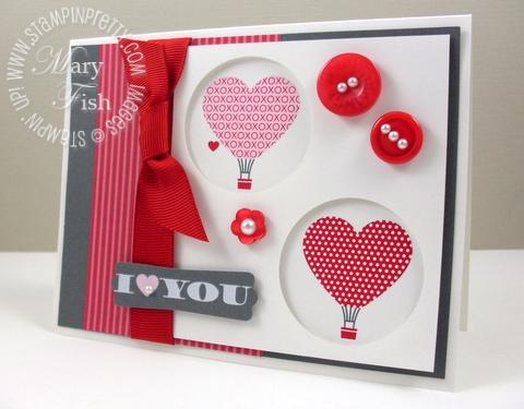 Stampin up love impressions rubons valentine card