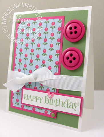 Stampin up blog curly cute sweet stitches buttons