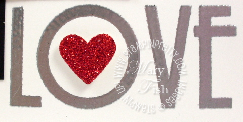 Stampin up mojo monday heart punch filled with love