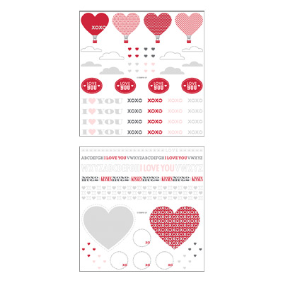 Love impressions rub-ons stampin pretty
