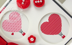 Stampin up love impressions rubons heart balloon