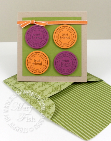 Stampin up saleabration punch bunch true friend