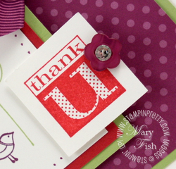 Stampin up cute by the inch hostess stamp