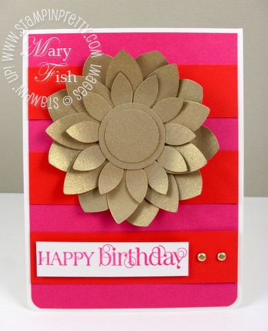 Stampin up blossom petals punch curly cute centered