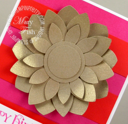 Stampin up blossom petals punch brushed gold card stock