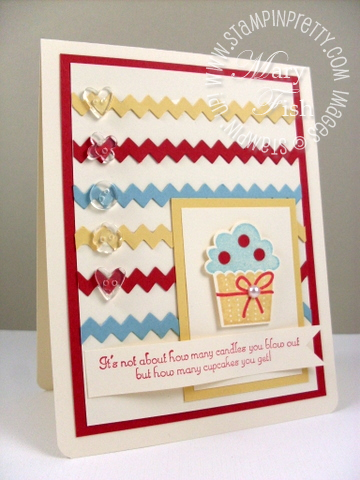Stampin up rick rack video tutorial cupcake