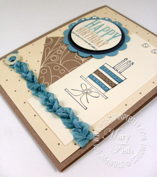 Stampin up mojo monday slice of life birthday cake