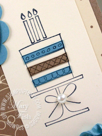 Stampin up a slice of life hostess set birthday card