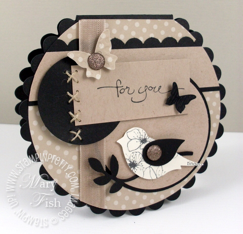 Stampin up mojo monday big shot scallop circle card