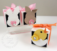 Stampin up petal card box easter bunnies