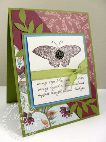Stampin up sneak peeks strength and hope paisley petals