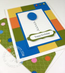 Stampin up decorative label punch ice cream parlor designer series paper