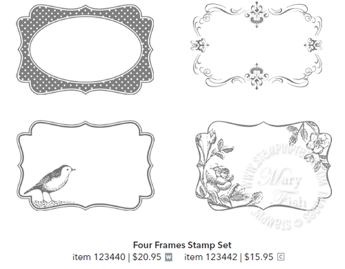 Stampin up stampin pretty four frames stamp set