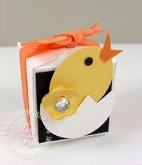 Stampin up easter card chick video tutorial petal card punch