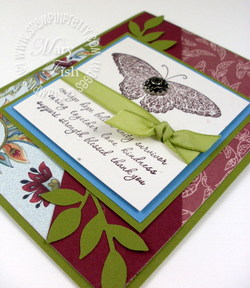 Stampin up strength and hope little leaves sizzlits dies