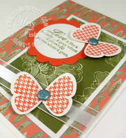 Stampin up mojo monday butterfly prints punch