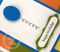 Stampin up decorative label punch video tutorial balloon