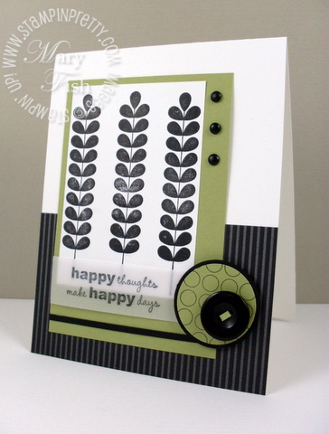 Stampin up pals paper arts apple blossoms masculine card