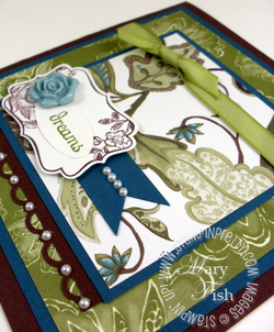 Stampin up mojo monday four frames paisley petals designers series paper
