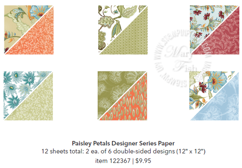 Stampin up stampin pretty paisley petals designer series paper