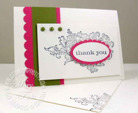 Stampin up elizabeth just believe thank you card video tutorial