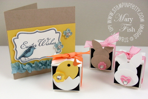 Stampin up easter card bunny  video tutorial petal card box