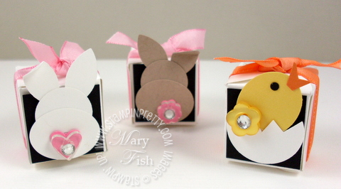 Stampin up petal card double punch bunny chick video tutorial