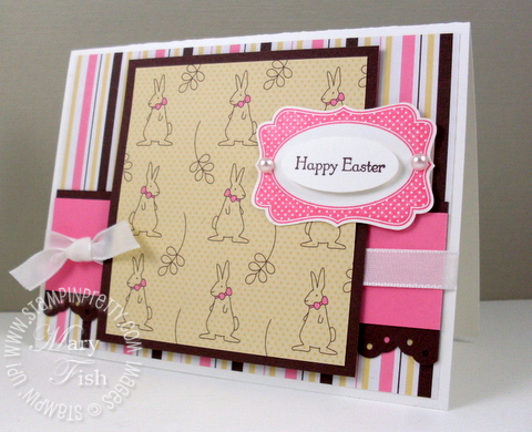 Stampin pretty easter card pals paper arts four frames