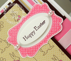 Stampin up happy easter card four frames