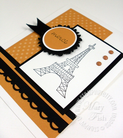 Stampin' up! chic boutique video tutorial mojo monday