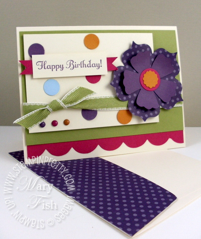Stampin up mojo monday birthday gift card certificate