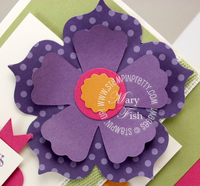 Stampin up mojo monday fun flowers die big shot