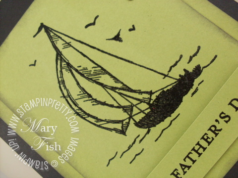 Stampin up open sea fathers day sample card