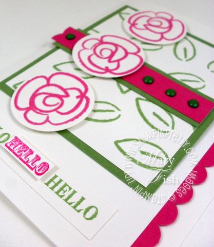 Stampin up summer mini catalog flower fest heat embossing