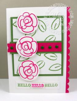 Stampin up catalog punch handmade card ideas flower fest