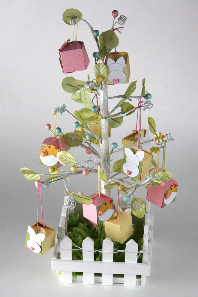 Bunny and chick box tree