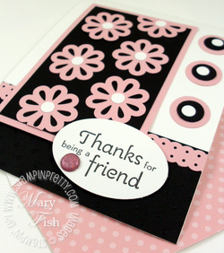 Stampin up blossom pouquet triple layer punch