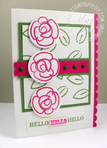 Stampin up summer mini catalog card ideas flower fest punch