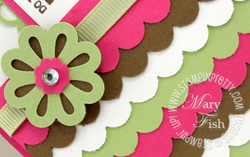 Stampin up triple layer punch video tutorial scallop edge border