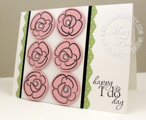 Stampin up flower fest word play rubber stamps punches