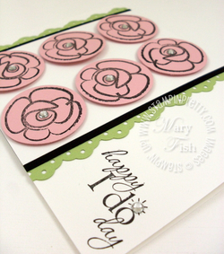 Stampin up handmade wedding card flower fest rubber stamps