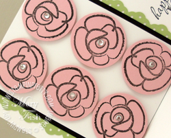 Stampin up flower fest rubber stamps circle punch