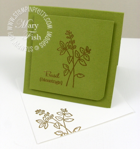 Stampin up herb expressions rubber stamp card idea