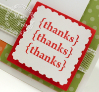 Stampin up pretty postage punnch thank you card idea