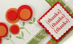 Stampin up hello blossoms circle punches thank you card idea
