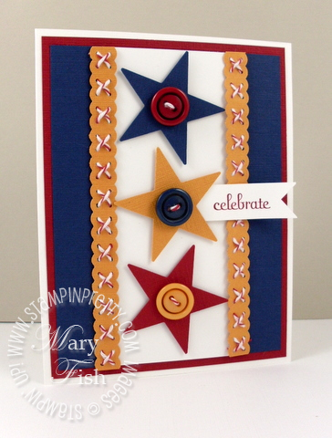 Stampin up star punch patriotic masculine handmade card