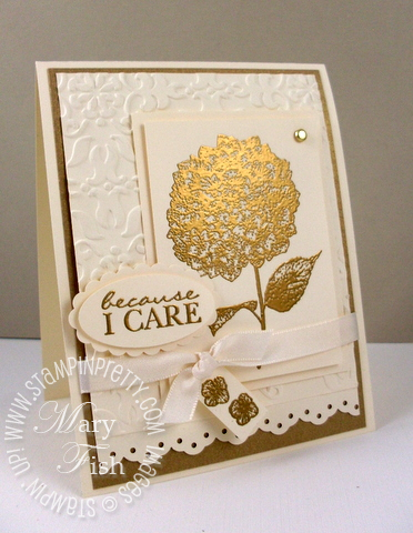 Stampin up mojo monday rubber stamp because i care