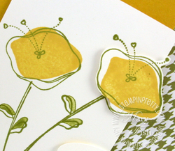Stampin up awash with flowers closeup